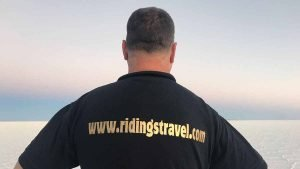 Mike with his Ridings Travel T Shirt